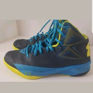 Men UA Under Armour Rocket Basketball Shoes Midnig